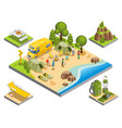 isometric outdoor recreation concept vector image