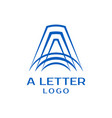 letter a logo design template vector image vector image