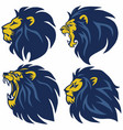 lion head logo set premium collection vector image