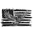 national symbol usa flag and eagle vector image