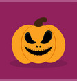 orange halloween pumkin vector image