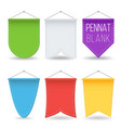 pennant template set colorful bright vector image