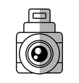 photo camera picture vacation travel line shadow vector image vector image