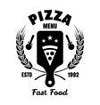 pizzeria emblem logo badge or label vector image vector image
