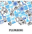 plumbing background design vector image vector image
