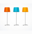 realistic detailed 3d floor lamp color set vector image vector image