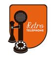 retro telephone vector image vector image