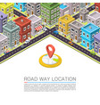 road in city isometric vector image vector image