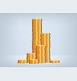 savings from gold coins vector image
