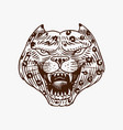 screaming mad leopard or panther for tattoo vector image vector image