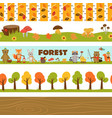 set isolated borders forest vector image vector image