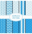 Set of blue fashion geometric seamless pattern vector image vector image