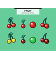 Set of cherries different ripeness vector image vector image