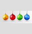 set of christmas balls with polygonal abstract vector image