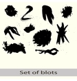 set of different blots vector image vector image