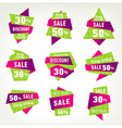 set stickers labels and banners vector image vector image