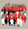 silhouettes crowds of people in trendy flat style vector image vector image