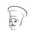 smiling chef outline vector image
