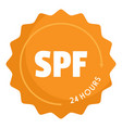 spf logo flat style vector image vector image