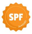 spf logo flat style vector image vector image