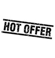 square grunge black hot offer stamp vector image vector image