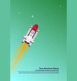 start up simple rocket web design responsive web vector image vector image