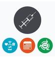 Syringe sign icon Medicine symbol vector image