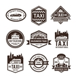 Taxi Black Label Set vector image vector image