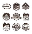 Taxi Black Label Set vector image