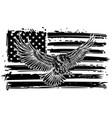 the national symbol usa flag and eagle vector image vector image