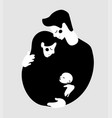 traditional couple with baman and woman young vector image vector image