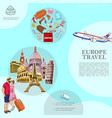 trip to europe template vector image vector image