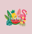 tropical print aloha vector image vector image