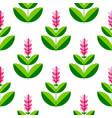 turmeric curcuma plant with a flower stylized vector image