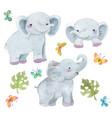 watercolor elephant safari animal watercolor vector image vector image