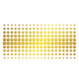 web browser golden halftone array vector image vector image
