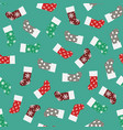 patterns of christmas socks vector image