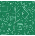 Seamless school background vector image