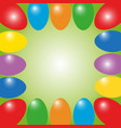 easter frame from color eggs vector image