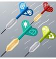 Business target marketing dart idea creative vector image