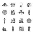 Maya Icons Black vector image
