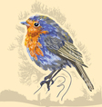 water color bird vector image