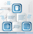 Template education infographic icon and steps vector image