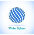 Abstract water sphere globe symbol vector image vector image