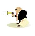 angry boss vector image
