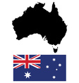 Austalian map and flag vector image vector image