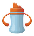 baby sippy cup icon cartoon style vector image vector image