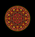beautiful simple mandala design vector image vector image