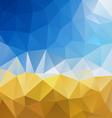 blue sky yellow harvest polygon triangular pattern vector image vector image