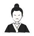 character japanese man clothes culture vector image